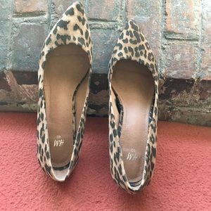 H&M Suede Animal Print Shoes